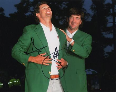 Adam Scott, Masters Champion 2013 Augusta, signed 10x8 inch photo.